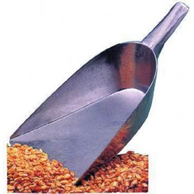 ALUMINUM SCOOP WITH FLAT BOTTOM FOR FLOUR AND CEREALS CM. 20X30