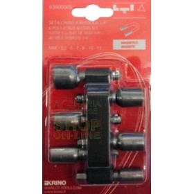 6-bit magnetic socket wrench set 1/4 inch mm. 5.5 - 13