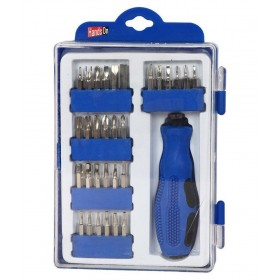 SCREWDRIVER SET WITH 30 ASSORTED INTERCHANGEABLE TIPS