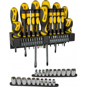 STANLEY SCREWDRIVERS AND SOCKETS SET 57 PIECES ART.0.62143