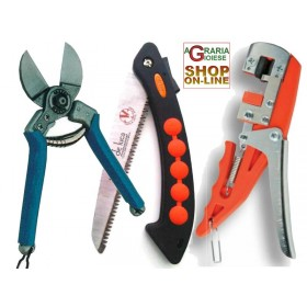 SET OF TWO DARK DOUBLE CUT SCISSORS AND SAW AND GRAFTING