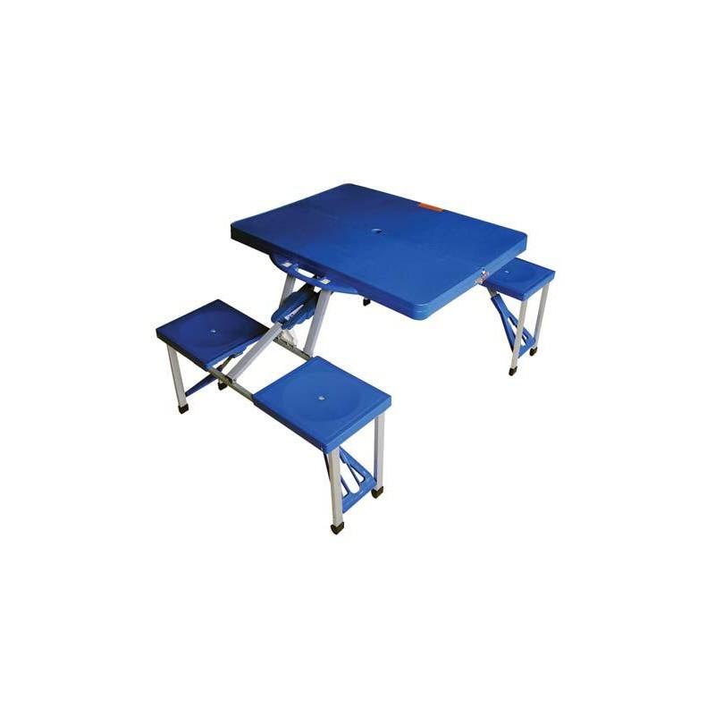 Tavolo Da Campeggio Richiudibile.Set Tavolino E Sedie Da Pic Nic Campeggio Richiudibile 136x66 5xh86 Blu