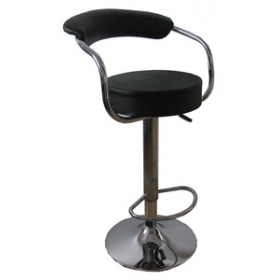 SWIVEL STOOL STRUCTURE IN CHROME STEEL WITH FOOTREST ART. UT-C826