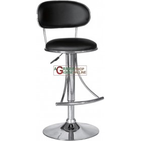 STOOL FOR BANKING COUNTER BLACK URBAN MODEL WITH GAS LIFT