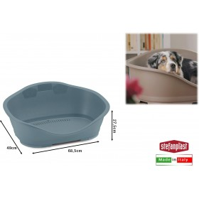 SLEEPER 2 BED FOR DOGS AND SMALL CATS BLUE SIZE STEEL CM. 68.5x49x27.5h.