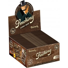 Smoking Brown King Size Cartine Lunghe Senza Cloro Scatola 50