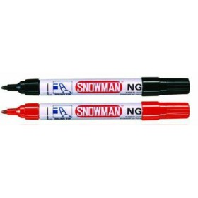 SNOWMAN RED MARKER ROUND TIP NG-12