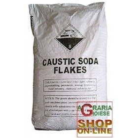 CAUSTIC SODA FLAKES IN BAG KG. 25