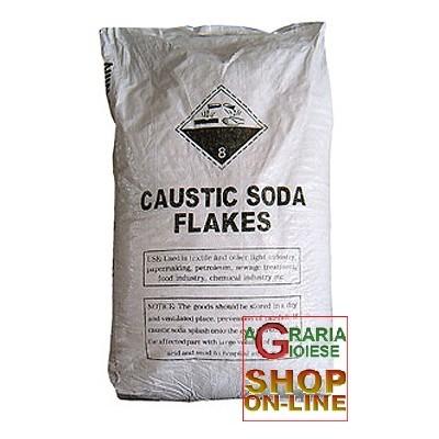 CAUSTIC SODA FLAKES IN BAG KG. 25