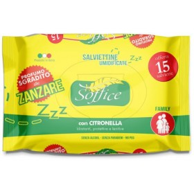 Soft Moistened Mosquito Wipes with Citronella pcs. 15