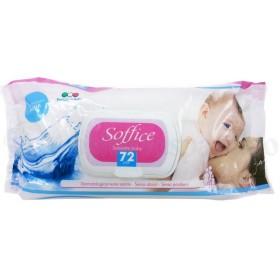Soft soaked wipes baby Aqua pcs. 72