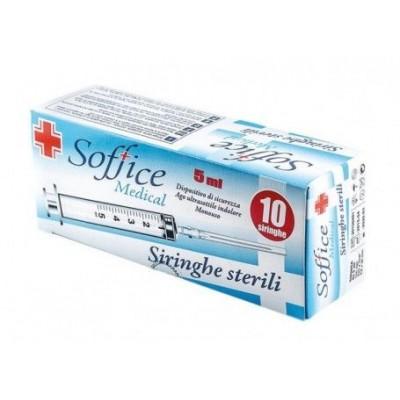 SOFT SINGLE USE STERILE SYRINGES WITH NEEDLE PCS. 10