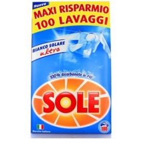 SOLE DETERSIVO BUCATO LAVATRICE IN POLVERE BIANCO SOLARE CON