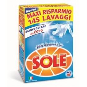 SOLE DETERSIVO BUCATO LAVATRICE IN POLVERE BIANCO SOLARE ULTRA FUSTONE 145 LAVAGGI