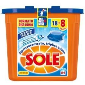 SOLE ECODOSI DETERSIVO BUCATO LAVATRICE PODS PERLE DI PULITO CLASSICHE 18 e 8 CAPS