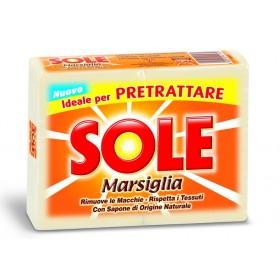 SOLE SAPONE BUCATO PEZZI MARSIGLIA BIANCO 2 PEZZI gr. 500