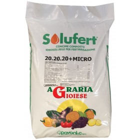 SOLUFERT FERTILIZER FOR FERTIGATION 20.20.20 + MICRO KG. 25