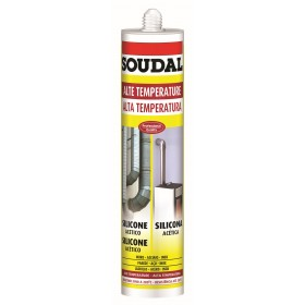 SOUDAL SILICONE CARTRIDGE HIGH TEMPERATURE RED ML. 310