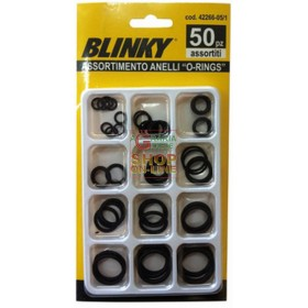 ASSORTMENT RUBBER RINGS O-RINGS CONF. 50 PIECES