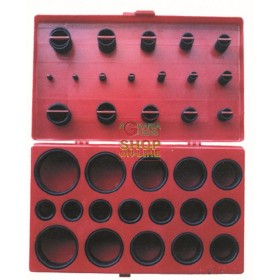 ASSORTMENT RUBBER RINGS O-RINGS CASE 419 PIECES