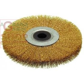 CIRCULAR BRUSH WITH CORRUGATED WIRES HOLE MM. 16 MM. 150X28