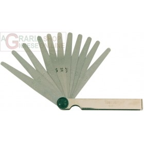 METAL THICKNESS GAUGE WITH 13 BLADES ART.2571-1