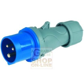 SPINA INDUSTRIALE CEE IP44-220V 2P CON T 16A ART. 9213