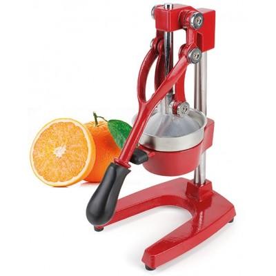 Red metal citrus juicer and pomegranate squeezer cm. 39
