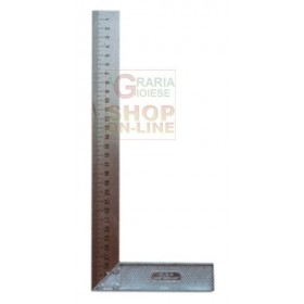 SQUARE FOR JOINERS WITH STEEL ROD AND ALUMINUM PLINTH CM. 25
