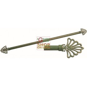 BARREL FOR GREEN-GOLD CURTAIN IN WROUGHT IRON FAN CM. 40/60