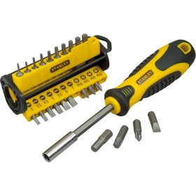 STANLEY MULTIBIT SCREWDRIVER WITH 34 INSERTS
