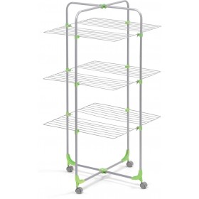 3-PIECE TOWER CLOTHING RACK FOLDING MERCURY WITH WHEELS