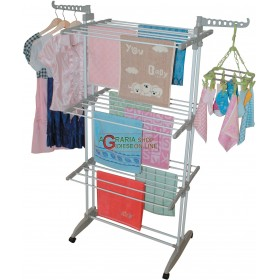 COLUMN SPACE-SAVING CLOTHES RACK IN ABS STEEL