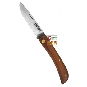 STOCKER FOLDING HUNTING KNIFE M WOODEN HANDLE STAINLESS BLADE CM. 8.5