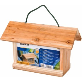 LISSI FEEDER STOCKER FOR BIRDS IN SOLID WOOD CM. 30.5 X 19.5 X 18.5