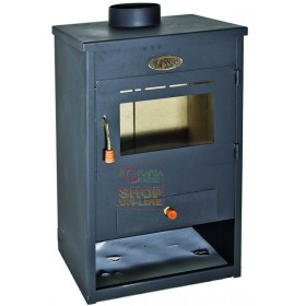 WOOD STOVE IN STEEL CLASSIC MODEL ANTHRACITE cm. 38x46x73h.