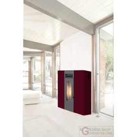PELLET STOVE KING IDRO SLIM 16 BORDEAUX