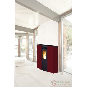 PELLET STOVE KING SLIM 6 BORDEAUX