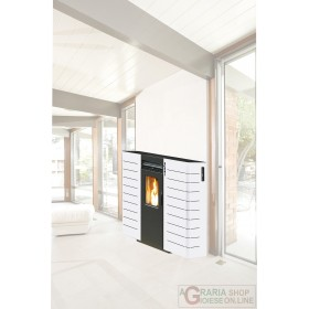 PELLET STOVE KING SLIM CHANNEL. KW10 WHITE