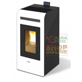 PELLET STOVE MOD. KING 16 DUCTED KW. 15.5 WHITE COLOR