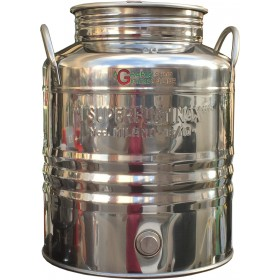 SUPERFUSTINOX STAINLESS STEEL CONTAINER MOD. MILAN LT. 25 HIGH