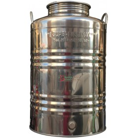 SUPERFUSTINOX STAINLESS STEEL CONTAINER MOD. MILAN LT. 50 HIGH