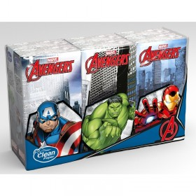AVENGERS HANDKERCHIEFS 6 PACKS OF 9 HANDKERCHIEFS 4 PLY KIDS