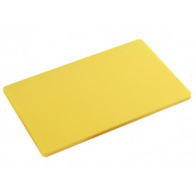 Polyethylene cutting board for kitchen Kesper HACCP yellow