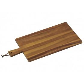 Tagliere in legno acacia per cucina Kesper con manico cm. 45x22