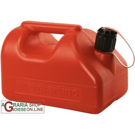 RED PLASTIC TANK FOR FUEL APPROVED LT. 5