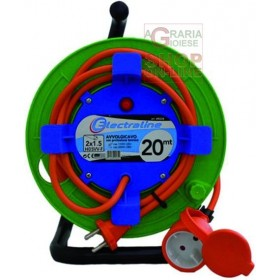 GARDEN CABLE REEL SOCKET WITH 16A PLUG 2X1.5 MT. 20 ART. 49234