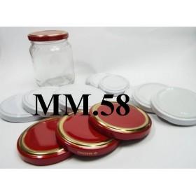 CAP 58 FOR GLASS JAR