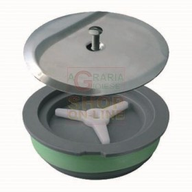 EXPANSION CAP WITH HEAVY LID DIAM. 120 MM. IN CHROMED BRASS