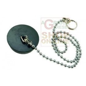 BLACK RUBBER CAP WITH CHAIN BRASS BEADS 90 DIAM. MM. 31